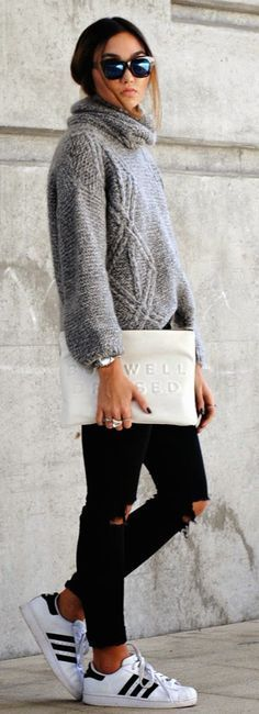 zara grey knit sweater