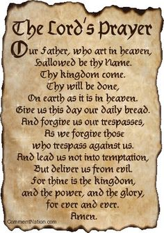 The Lord's Prayer words. The traditional words to the Our Father. Also versions in modern, aramaic, for children and in latin, spanish, welsh & german Faith Prayer, My Prayer, Prayer Board, Prayer Circle, Our Father Prayer, Night Prayer, Serenity Prayer, Prayer Room, Prayer Quotes
