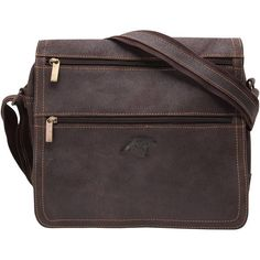 Carolina Panthers Distressed Double Zip Messenger Bag - Brown - $299.99
