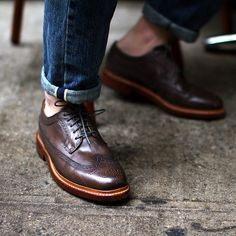 They are fashionable and smart. Consider your brogues as elegance combined with high fashion! Here are 11 Magnificent Brogues that you just can't miss. Me Too Shoes, Men's Shoes, Shoe Boots, Shoes Sneakers, Dress Shoes, Shoes Men, Boy Shoes, Fall Shoes, Mens Style Guide