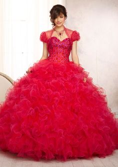Gorgeous ballgown VIZCAYA By Mori Lee Style 88098 in cerise/scarlet www.TheBridesShoppe.com