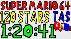 """[HD N64] Super Mario 64 """"120 Stars"""" TAS in 1:20:41"""