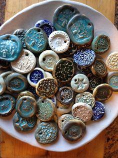 Beads by my daughter Chloe (10) and Rachel (7)  by Christiane Barbato Please visit www.BlueDoorCeramics.com