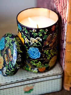 Make a candle - making those empty tins into pretty candles, either for your own space or as a gift for the eclectic vintage lover. Check out Design*Sponge for the full tutorial.