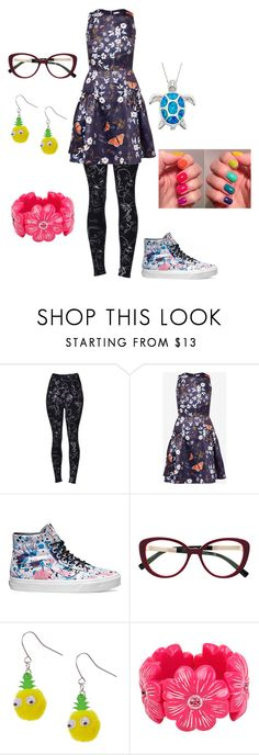 """""""Dizzy's Outfit"""" by jakela778 ❤ liked on Polyvore featuring Ted Baker, Vans and Versace"""