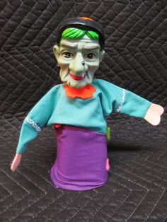 Vintage Old Witch Hand Puppet.