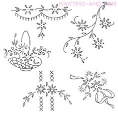 Vintage Embroidery Transfer Patterns | Free Embroidery Pattern: Small Lazy Daisy Stitch Patterns