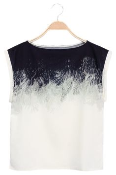 Yoins Round Neck Leave Pattern Casual T-shirt Denim T Shirt, Denim Crop Top, Crop Shirt, Crop Tops, Leave Pattern, Top Pattern, Black Pattern, Casual T Shirts, Fashion Looks