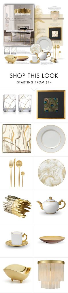 """Made of Gold"" by gracekathryn ❤ liked on Polyvore featuring interior, interiors, interior design, home, home decor, interior decorating, NiRa Rubens, Kate Spade, Schumacher and Cutipol"