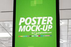 Free PSD Poster Mockup