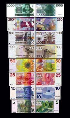 Ons oude vertrouwe biljetten. Former Dutch money