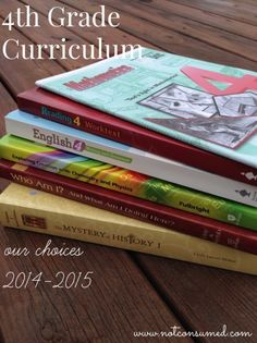 4th grade homeschool curriculum ideas. Come see what these are out favorite choices.