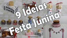 9 Ideias incríveis para Festa Junina - Linda, Fácil e Barata - Faça Você mesmo - YouTube Felt Art, Fabric Art, Gingerbread Cookies, Decoupage, Stencils, Place Card Holders, Holiday Decor, Youtube, Fez