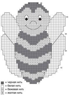 Прихватки «Пчелки» - схема вязания крючком. Вяжем Прихватки на Verena.ru