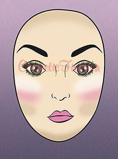 How to Contour Long/Oblong Face Shape    - highlight/conceal from eyelid diagonally to beginning of cheek top and diagonally up to end of eyelid ( forming a inverted triangle) n blend