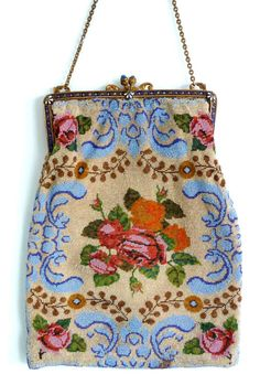 Floral Beaded Purse