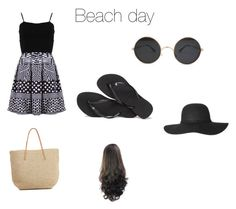 """""""Untitled #12"""" by crillings ❤ liked on Polyvore featuring FRACOMINA, Havaianas and Target"""