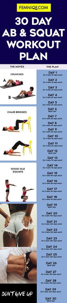 The Ultimate 30 day squat and ab challenge at home - If you want to get a bigger butt and get sexy flat abs then you should give this 30 day ab and gut challenge a try! Your body will love it...