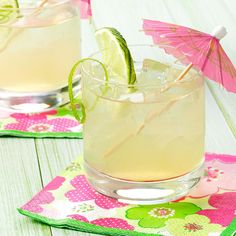 Mai Tai Recipe -This party favorite has been around for quite some time. It's not overly fruity and features a good blend of sweet and sour. For a splash of color, garnish with strawberries and lime.—Taste of Home Test Kitchen, Greendale, Wisconsin Alcohol Drink Recipes, Martini Recipes, Refreshing Cocktails, Summer Drinks, Banana Rum Drinks, Lychee Martini, Vodka Martini, Vodka Cocktails, Martinis