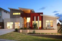 Resultado de imagen para fachadas de casas de una planta sencillas en 3d