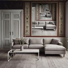 Scandinavia 4 Seater Sofa with Chaise Long