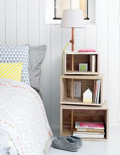 BELOW: This copper pipe lamp with plywood storage boxes make the perfect bedside table for a teen bedroom. - See more at: http://www.home-dzine.co.za/bedroom/bedroom-plywood-kids.html#sthash.SwfPeyLG.dpuf