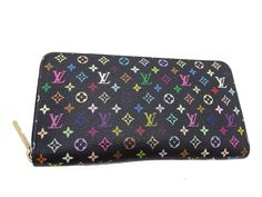 Auth Louis Vuitton Monogram Multi-Color Canvas Zippy Wallet M60243 (DH38633)…