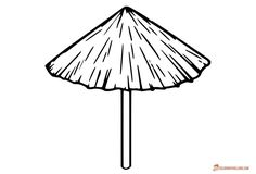 Beach Coloring Pages - Free Printable Outline Pictures Umbrella Tattoo, Umbrella Art, Beach Umbrella, Beach Coloring Pages, Coloring Pages For Kids, Coloring Sheets, Outline Pictures, Summer Clipart, Black N White Images