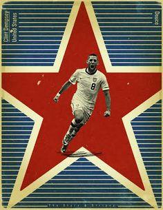 Clint Dempsey dos Estados Unidos da América.
