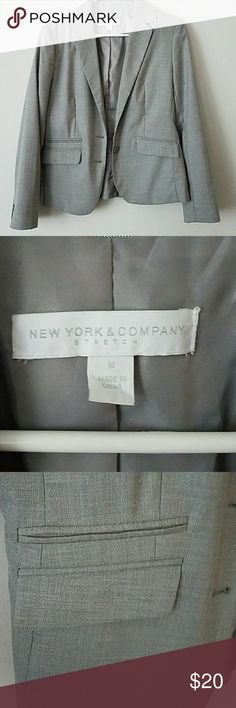 Classic grey blazer Heather gray classic blazer. Perfect for dressing up any outfit and going from the office to happy hour. New York & Company size 10. Perfect condition ny and co Other