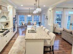 trendy kitchen layout design with island open concept Kitchen Floor Plans, Kitchen Flooring, Open Floorplan Kitchen, Open Kitchen Layouts, Küchen Design, Layout Design, Design Ideas, Design Inspiration, Villa Design
