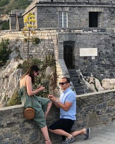 Huge congratulations to Sarah and Nick, that is very special ☄  #Repost @fashionfloozie ・・・ The moment I said 'YES' 💍😍 . . . . . . . . . #engagement #proposal #portovenere #italy