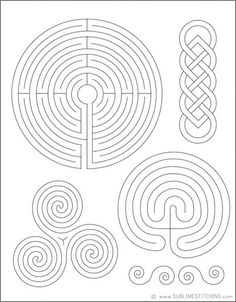 printable finger labyrinth designs; could make real