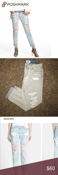 """Paige """"jimmy jimmy"""" boyfriend skinny Jeans (New) Brand new Paige Jeans style """"jimmy jimmy"""" boyfriend skinny denim. Jeans are a size 27. They have a cute lining inside the pocket that peeks out of jean tears. Open to offers :) PAIGE Jeans"""