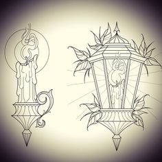 New designs available, contact me or for details 🖤 – interjectural-recom - - Lantern Drawing, Candle Drawing, Lamp Tattoo, Candle Tattoo, Flash Art Tattoos, Dibujos Tattoo, Desenho Tattoo, Tattoo Sketches, Tattoo Drawings
