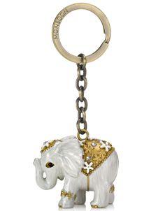 Ivory Elephant Keyring | Ivory | Monsoon