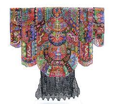 "Huichol by Sharmini Wirasekara Woven glass beads, 12"" x 11.75"""
