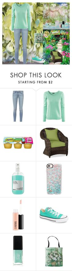 """""""In My Garden🥗🌱🌳"""" by oksana-kolesnyk ❤ liked on Polyvore featuring Frame, H&M, Pottery Barn, Davines, Casetify, MAC Cosmetics, Converse and JINsoon"""