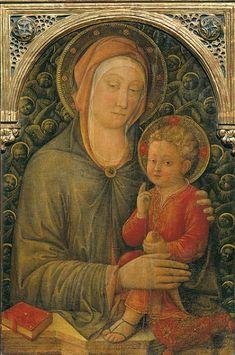 Madonna col Bambino benedicente e cherubini Jacopo Bellini  Gallerie dell'Accademia di Venezia