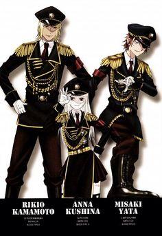 This picture is sooooooo COOL!!! Kamamoto Rikio, Kushina Anna and Yata Misaki. K Project #anime.