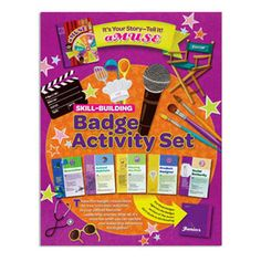 JUNIOR IT'S YOUR STORY BADGE ACTIVITY SET #60303 $4.00 The Skill-Building Badge Activity Sets offer girls activities to build fun and relevant skills they can use on their Leadership Journeys. This set contains earning requirements, program activities and information for earning five skill building badges related to the It's Your Story-TelIt! Journey and can be conveniently inserted into The Girl's Guide to Girl Scouting. (Badges sold separately). Imported.