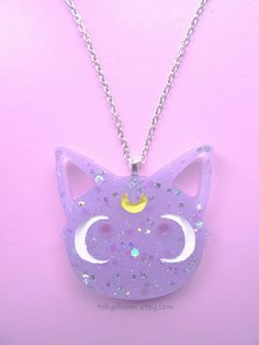 Diana Necklace- Sailor Moon- Anime- Fairy Kei- Kawaii- Luna Artemis by TokyoBunni on Etsy https://www.etsy.com/listing/255626545/diana-necklace-sailor-moon-anime-fairy