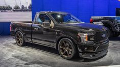 Chevy, Ford, Honda, Toyota and other brands were featured with aftermarket custom car parts at the 2018 SEMA Show in Las Vegas. Dodge Diesel Trucks, Ford Diesel, Ford Pickup Trucks, Ford Trucks, Custom Truck Parts, Custom Chevy Trucks, Ford Explorer Accessories, Truck Accessories, Lowered Trucks