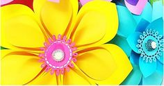Easy Giant Paper Flower Tutorial Lately my home studio has been overflowing with new flower designs. Large Paper Flowers, Paper Flowers Wedding, Crepe Paper Flowers, Paper Flower Backdrop, Giant Paper Flowers, Big Flowers, Faux Flowers, Paper Flower Tutorial, Flower Template