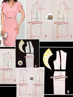 Photo by مزون حیاتی on December No hay ninguna descripción de la foto disponible. Dress Sewing Patterns, Clothing Patterns, Sewing Clothes, Diy Clothes, Pattern Draping, Latest African Fashion Dresses, Fashion Sewing, Pattern Fashion, Sewing Tutorials