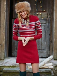 hot coco patterned dress