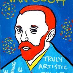 Vincent van Gogh pop folk art