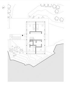 Image 22 of 29 from gallery of Villa Oreveien / Lie Øyen Arkitekter. First floor plan Villa, Floor Plans, Flooring, Modern Houses, How To Plan, Gallery, Houses, Modern Homes, Roof Rack