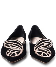 Sophia Webster Bibi Butterfly Pointed Suede Flats | Womenswear | Liberty.co.uk