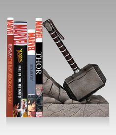 Thor's Hammer Turned Into a Bookend
